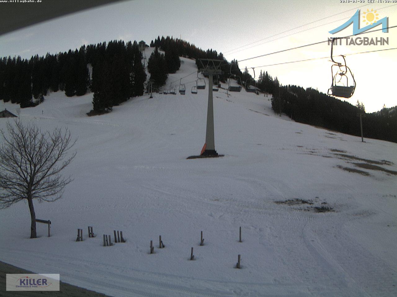 Webcam Ski Resort Immenstadt - Mittag cam 6 - Bavaria Alps - Allgäu