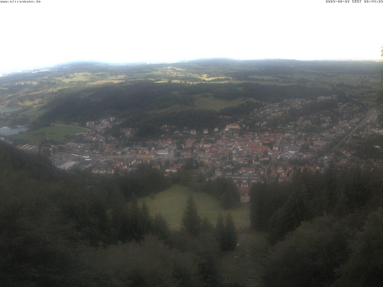 Webcam Ski Resort Immenstadt - Mittag von der Mittelstation - Bavaria Alps - Allgäu